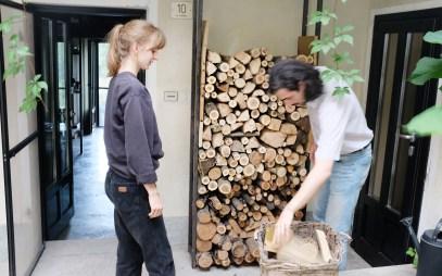 Holz holen