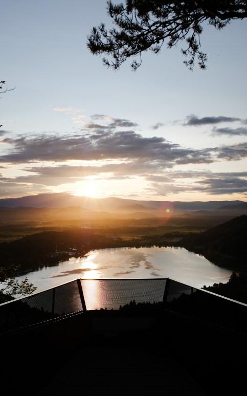 Sonnenaufgang am Klopeiner See