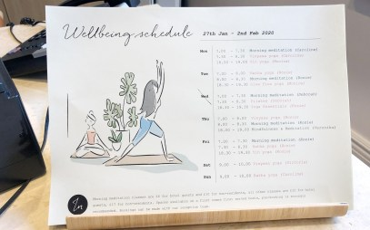Wellbeing Schedule - Inhabit Hotel London