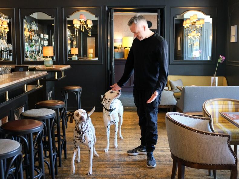 Olaf Krone mit seinen Hunden