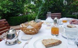 Das servierte Frühstück im Ottmanngut Meran