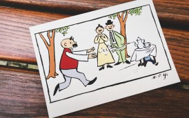 Vater und Sohn Postkarte