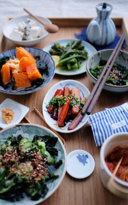 Veganes japanisches Essen