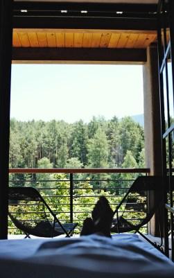 Terrasse vor unserer Romantiksuite