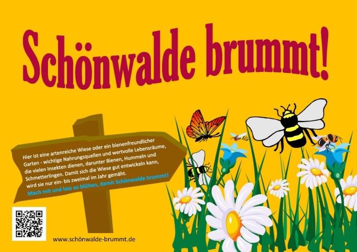 Schönwalde brummt - Schild