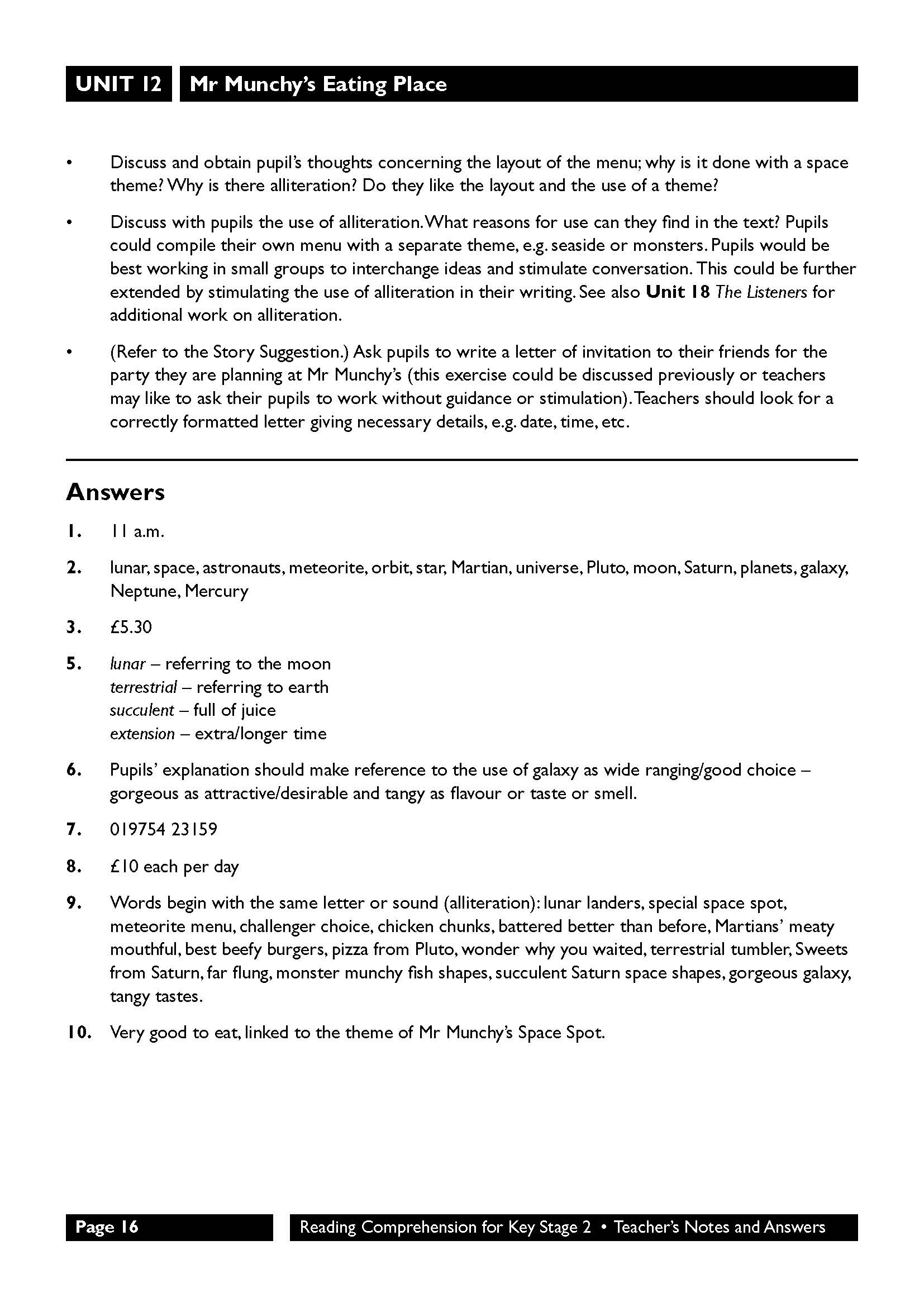Sats Reading Comprehension Ks2 Revision