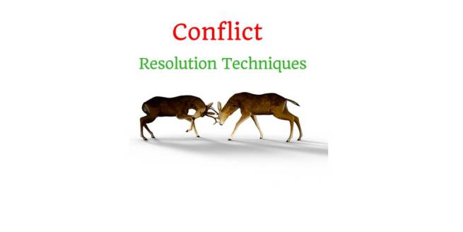 Explain 5 Conflict Management Techniques