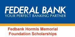 Federal Bank Hormis Memorial Foundation Scholarships