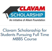 Clavam Scholarship for Students Pursuing Full Time MBBS Course