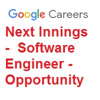 Next Innings Software Engineer Opportunity In Google