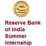 Reserve Bank of India Summer Internship