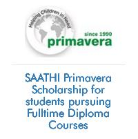 SAATHI Primavera Scholarship for students pursuing Fulltime Diploma Courses