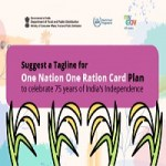Suggest a Tagline for One Nation One Ration Card Plan