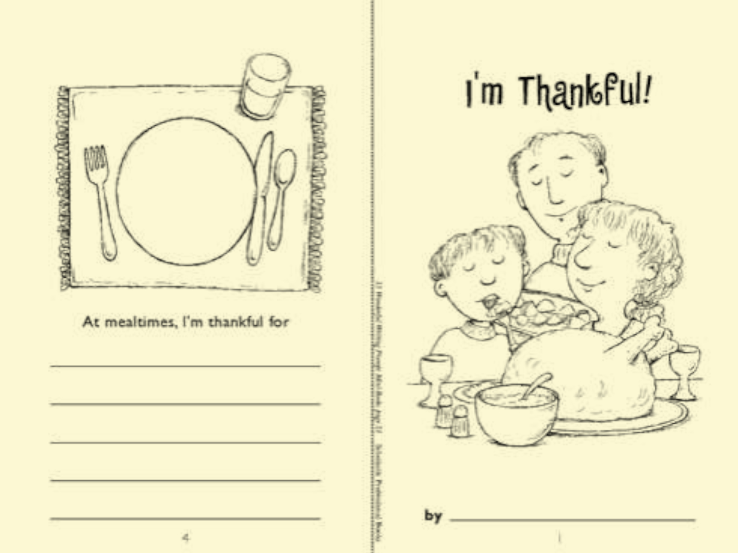 I M Thankful For Worksheet Preschool
