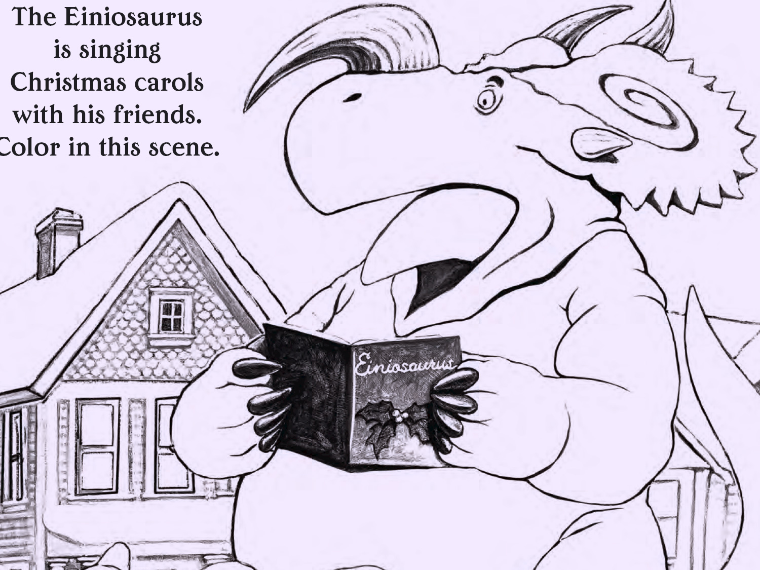 How Do Dinosaurs Say Merry Christmas Coloring Sheet