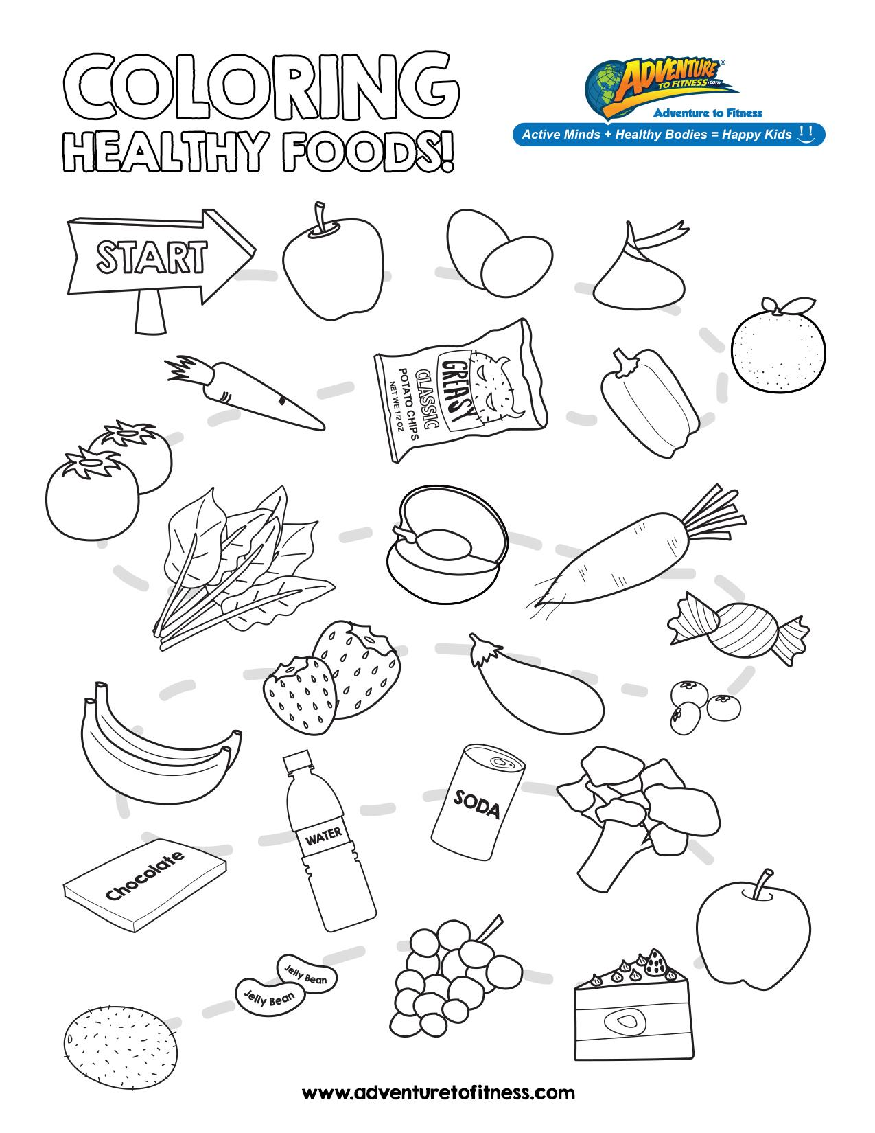 Preschool Worksheet Nutrition
