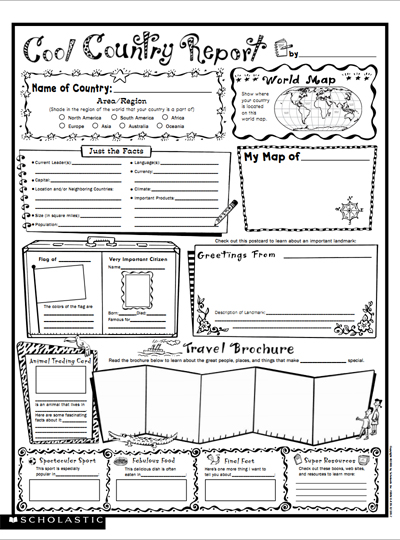 Cool Country Report Fill In Poster