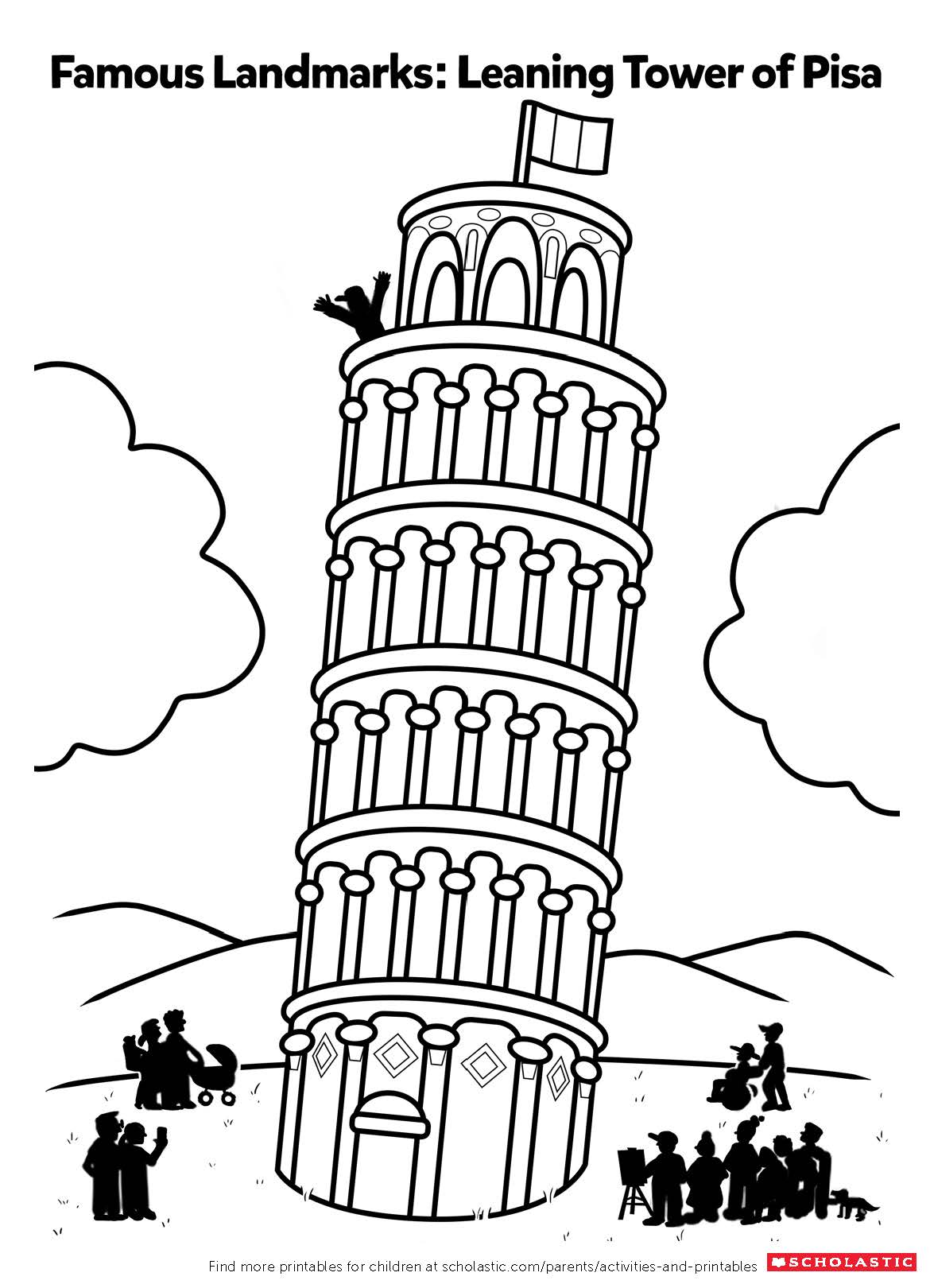 Color In The Leaning Tower Of Pisa