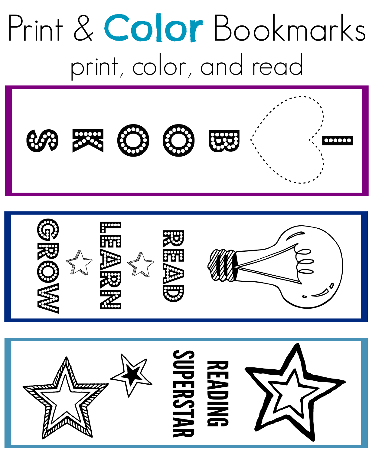 Print Amp Color Bookmarks