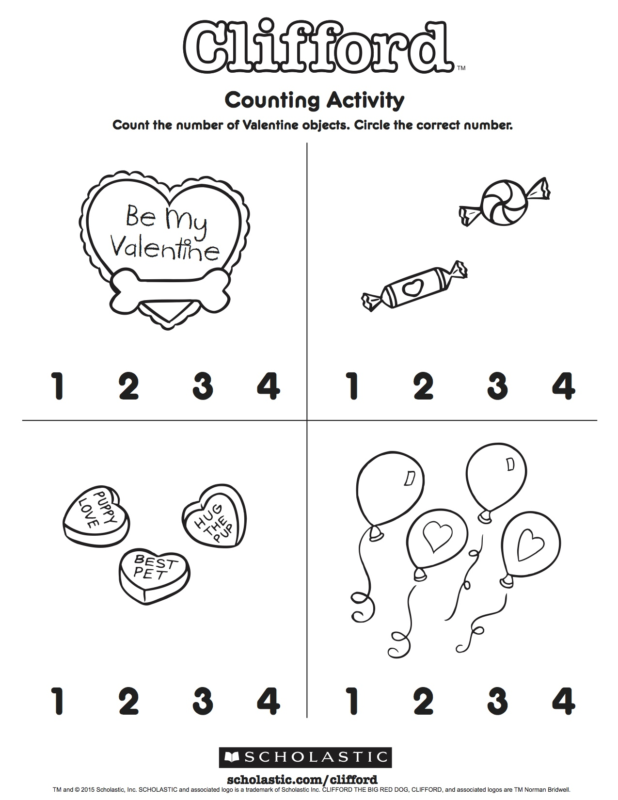 Clifford S Counting Activity