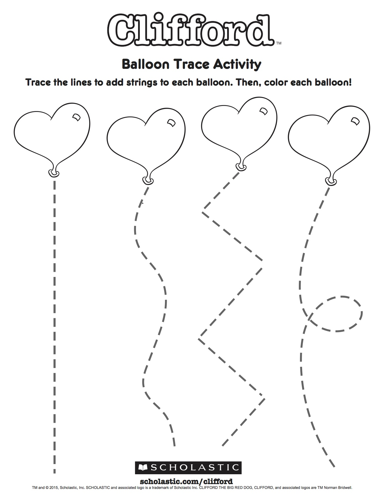 Clifford S Balloon Trace Activity