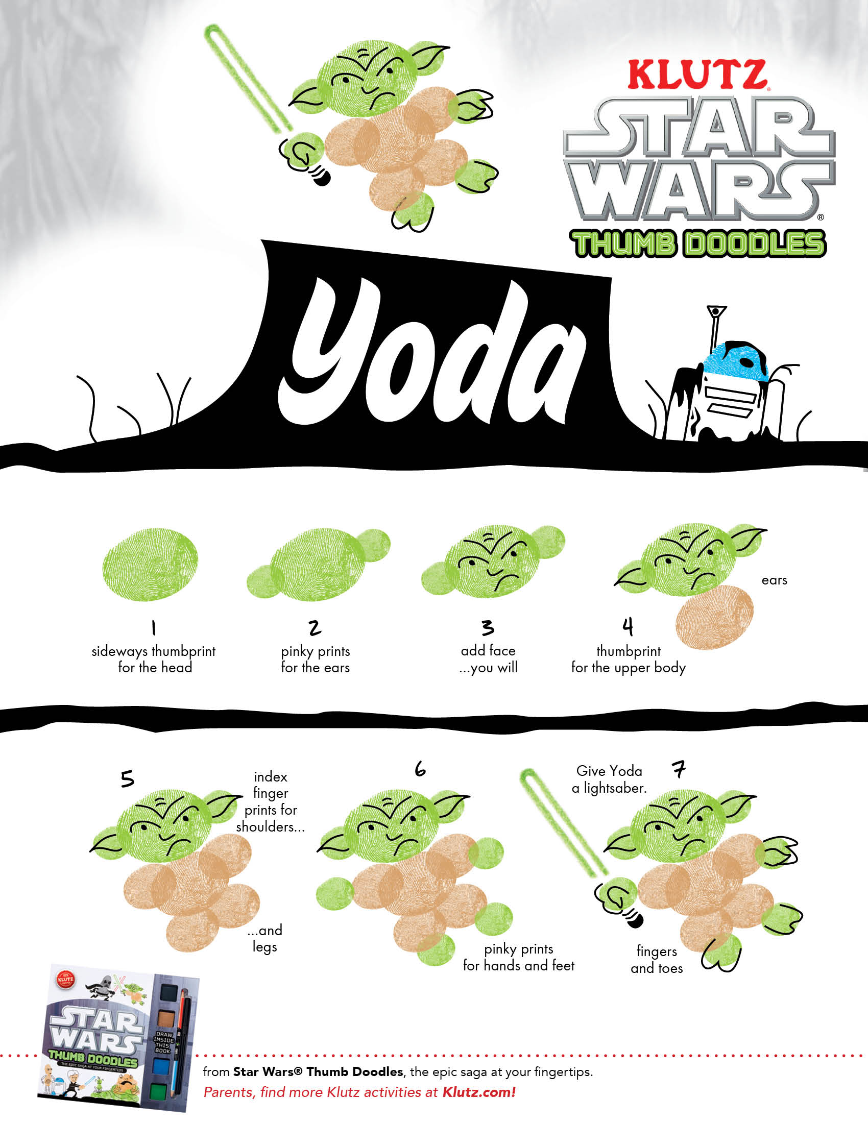 Draw Yoda Star Wars Thumb Doodles