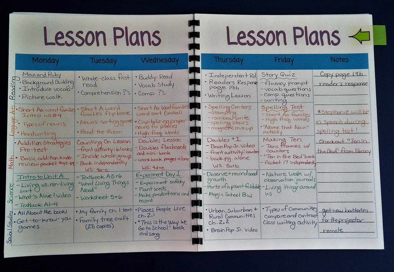 Printable Teacher Planner