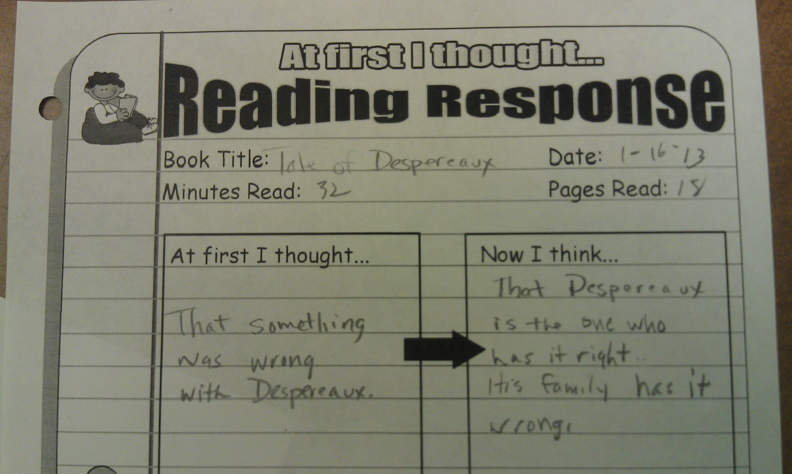 Five Minute Reading Responses