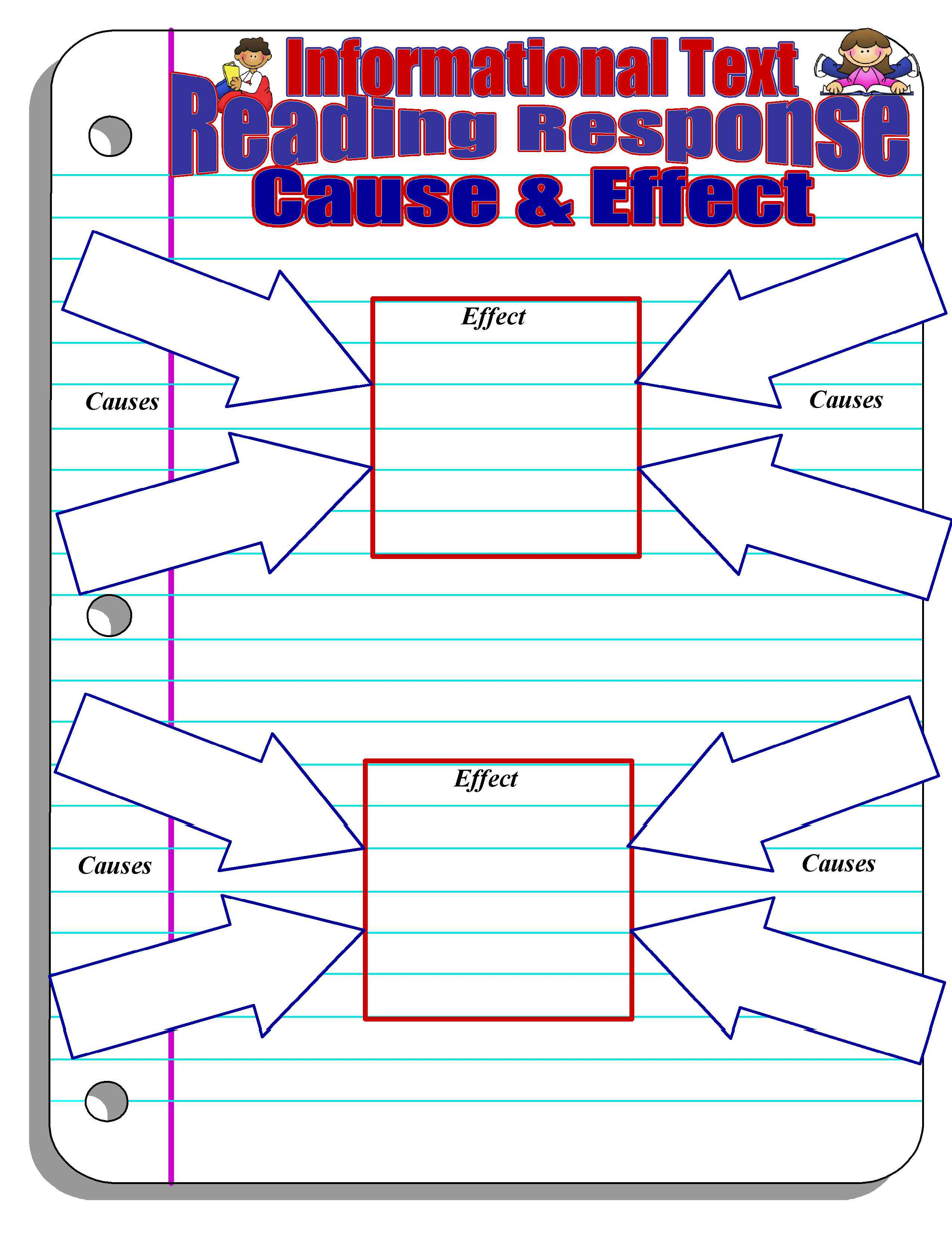 Cause And Effect Graphic Organizer High School