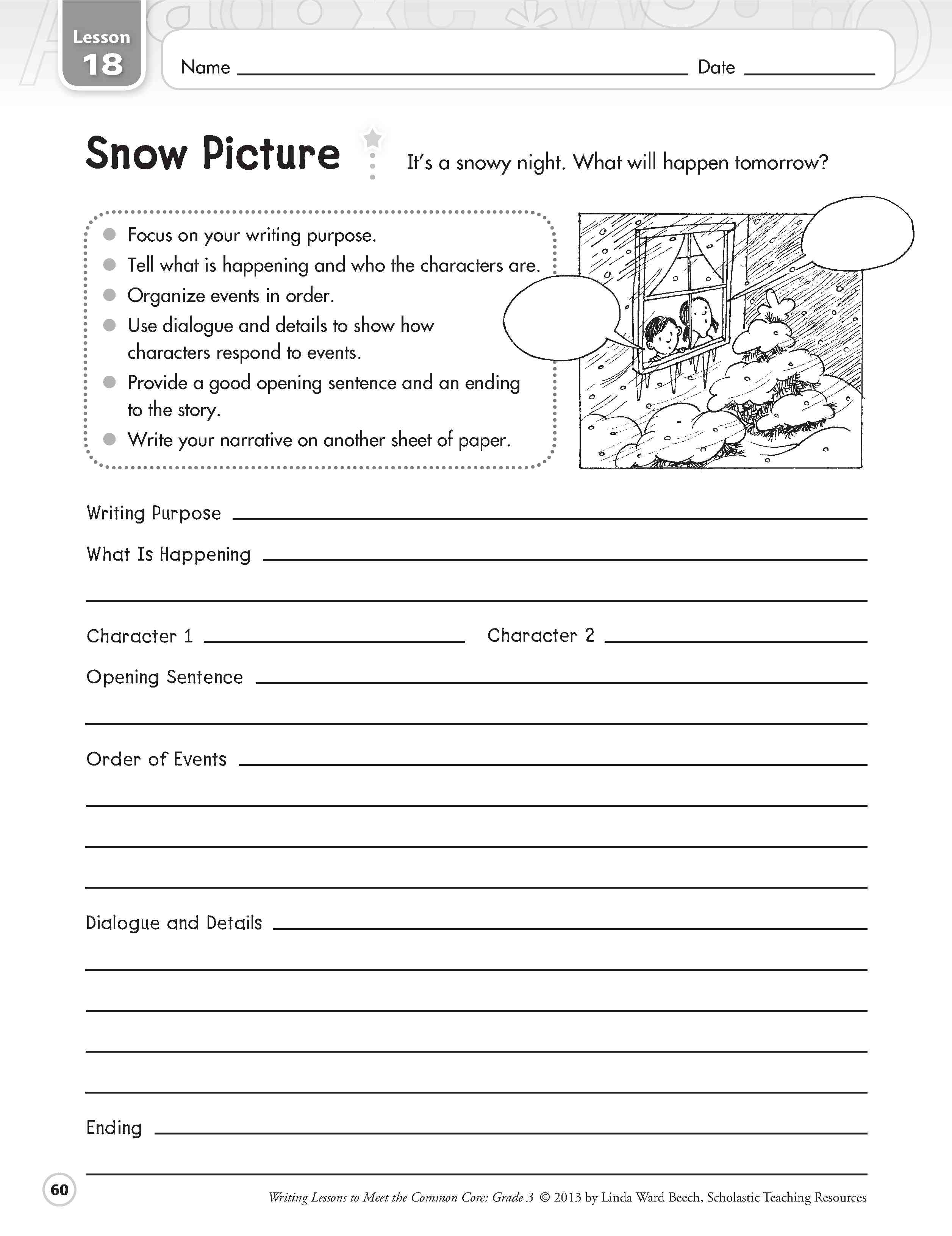 Creative Writing Worksheets Year 4 Amp 100 Original