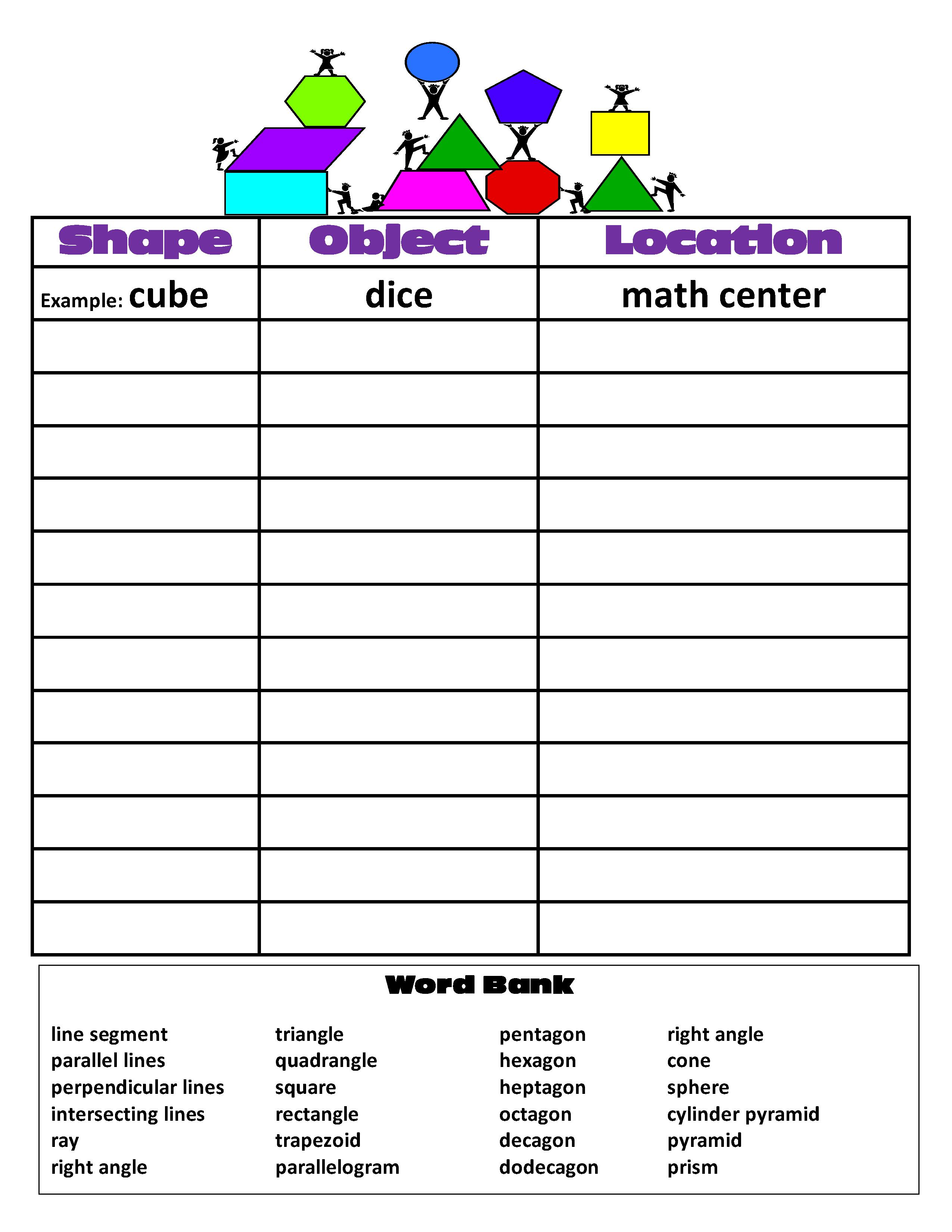 29 Math Scavenger Hunt Worksheet