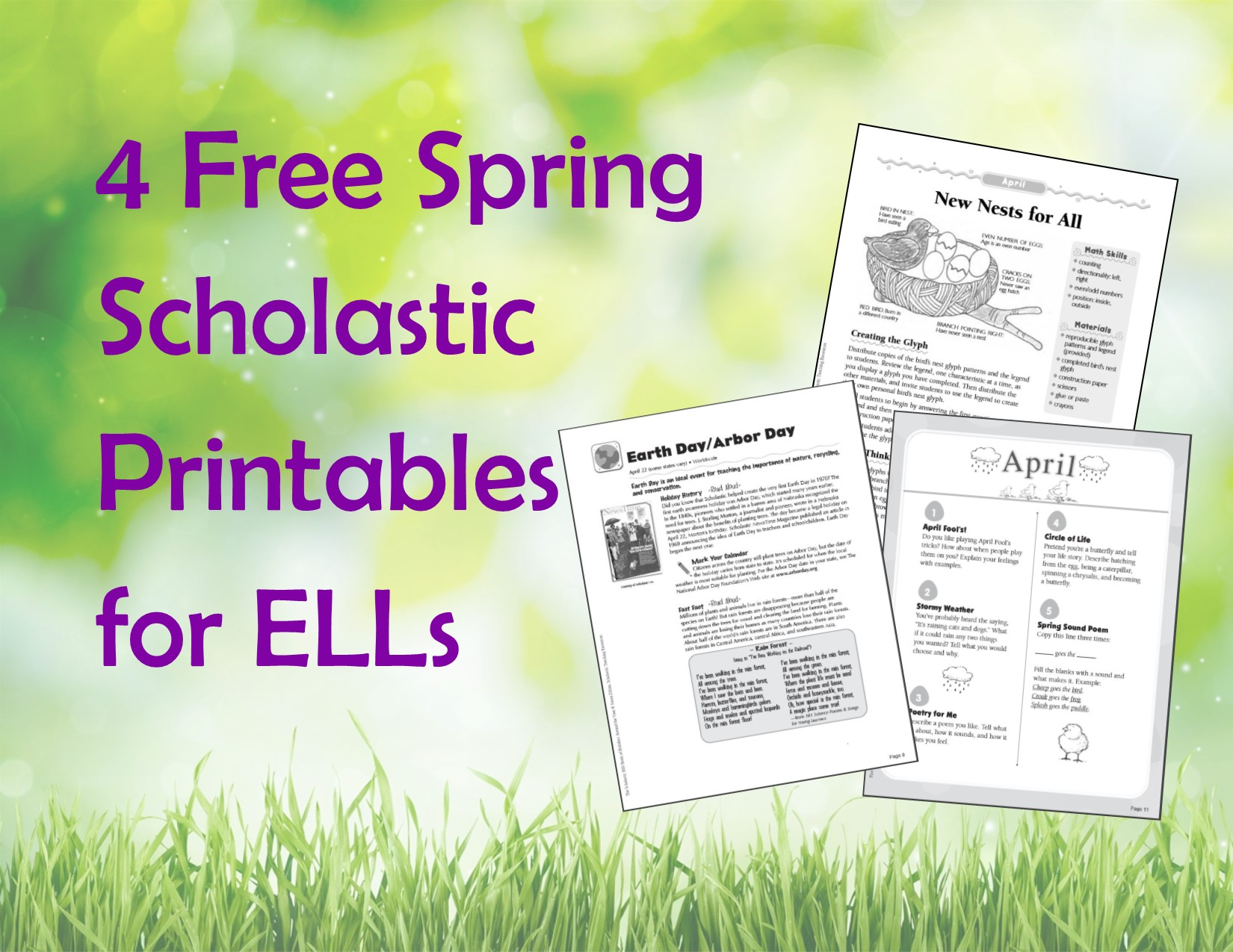 4 Free Spring Printables For Ells
