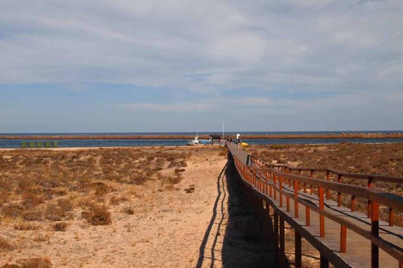 Steg am Strand Praia do Barril - Algarve Portugal