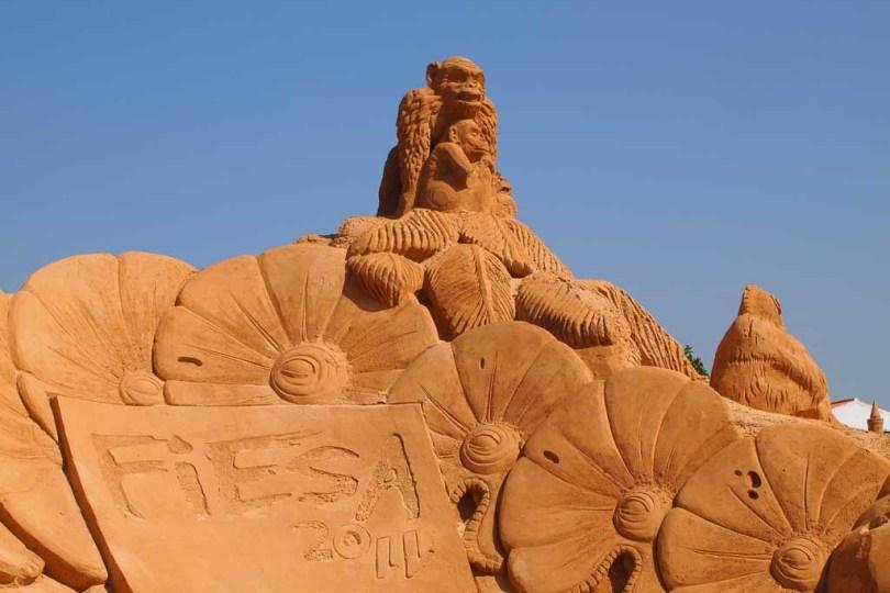 Sandskulpturen in Pera - Algarve