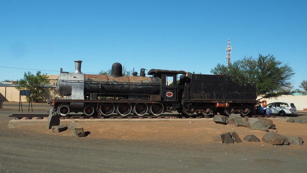 Dampflock_in Swakopmund am Bahnhof