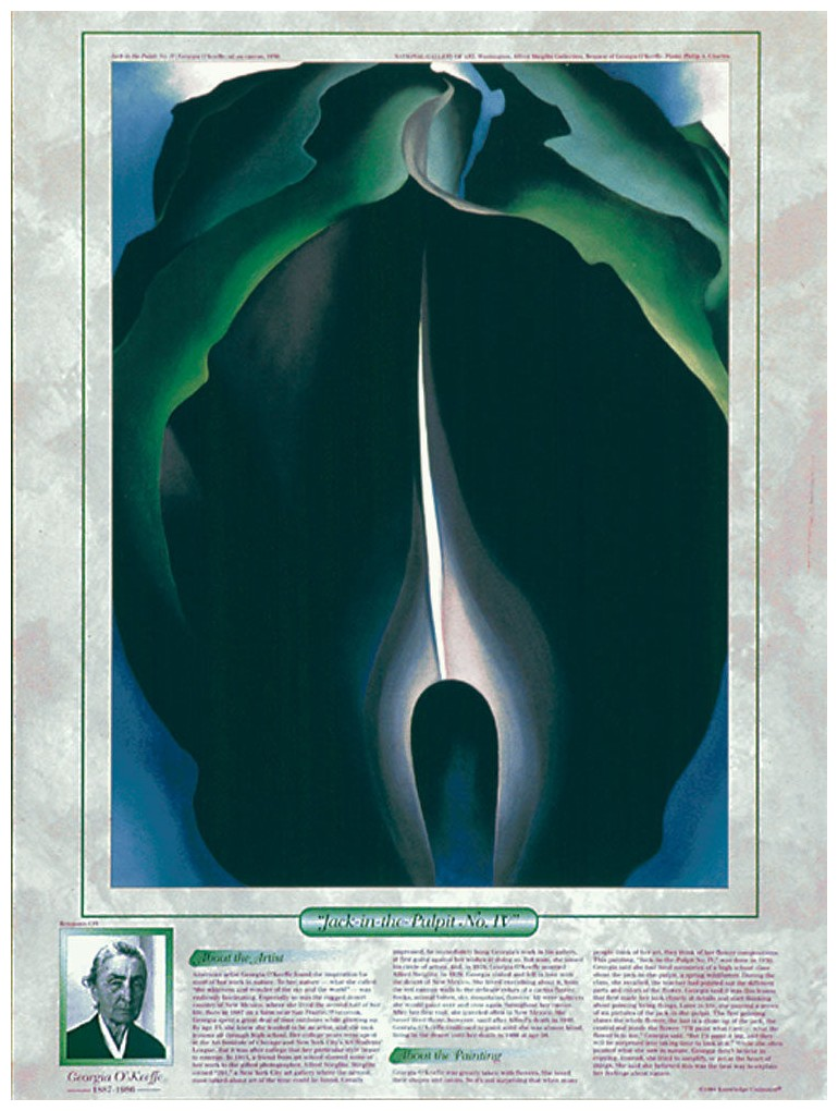 notable women artists georgia o keeffe jack in the pulpit no iv poster