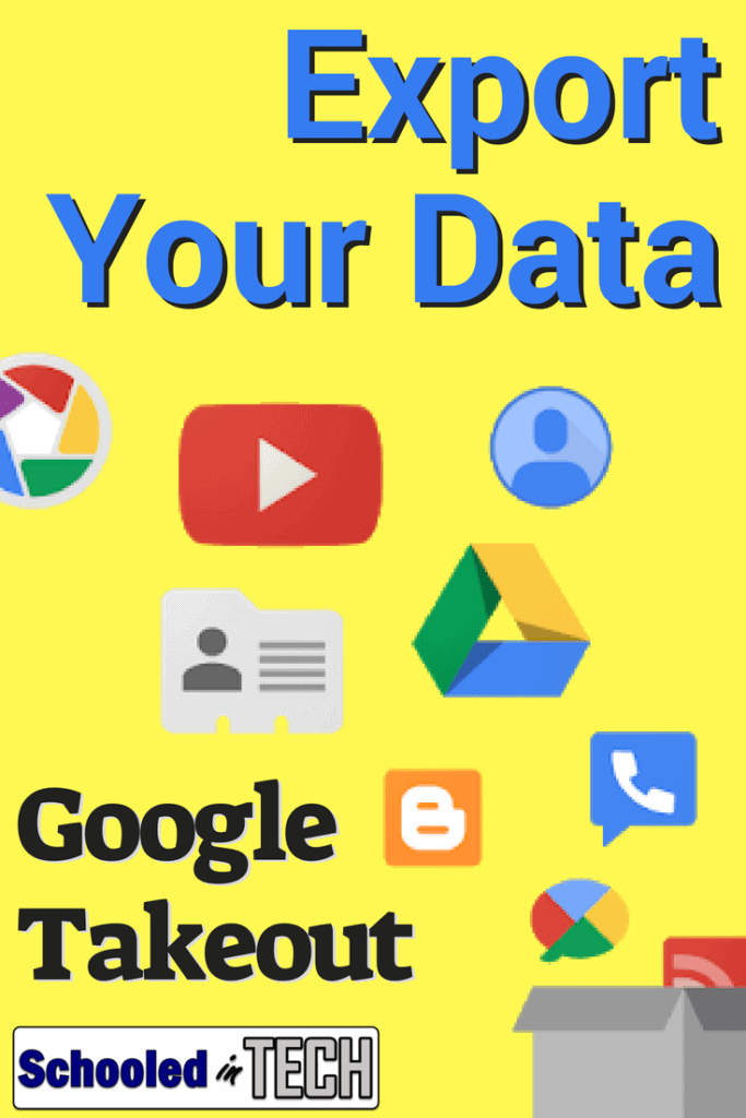 Whether you are graduating, changing schools, or changing jobs, you probably want to take your Google Docs, Sheets, Slides and other files with you. Download your files using Google Takeout. #Takeout #Gsuite #Google #teacher #export