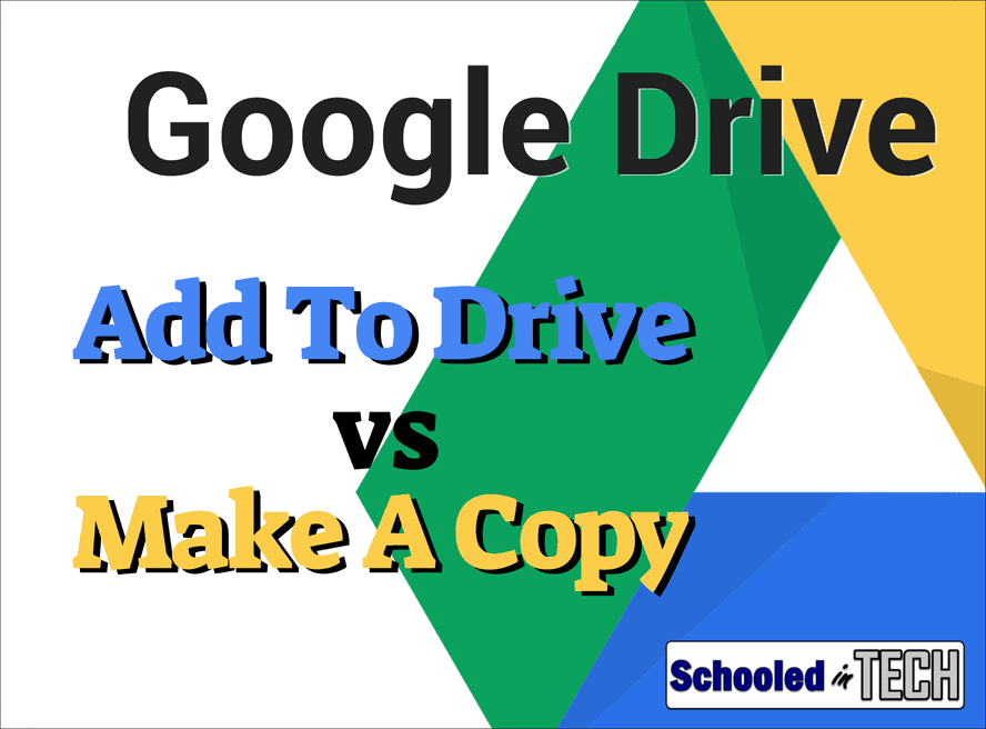 Google Drive: Difference Between Add To Drive & Make A Copy