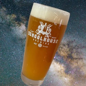 URSA Major Double IPA with galaxy and stars background