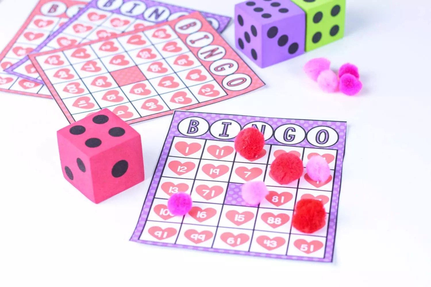 Make Math Fun With A Hands On Valentine Bingo Game
