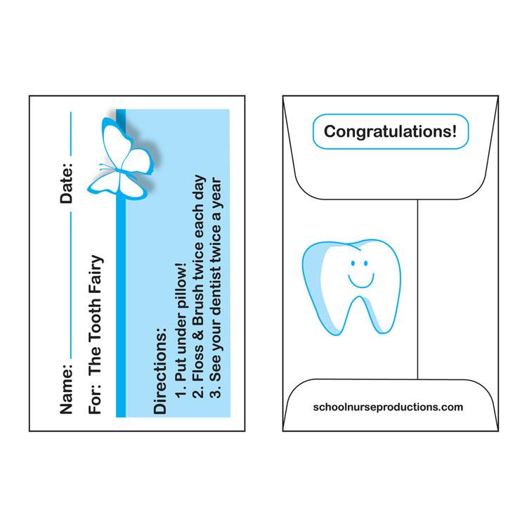 Tooth Fairy Envelopes 100Pkg