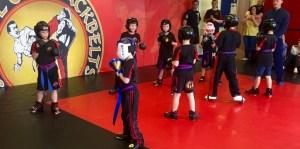 Kids Ninja Belt test