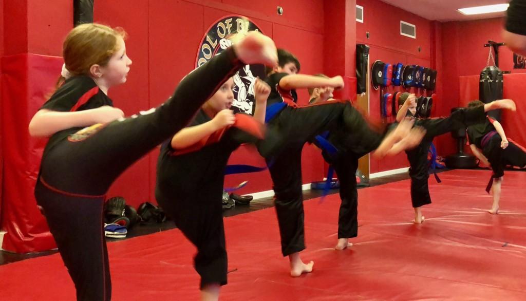 Sedgley Kids Kickboxing Grading