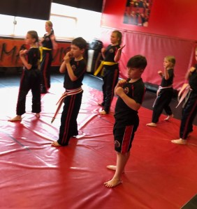 Kingswinford Ninjas Showing Serious attitude.