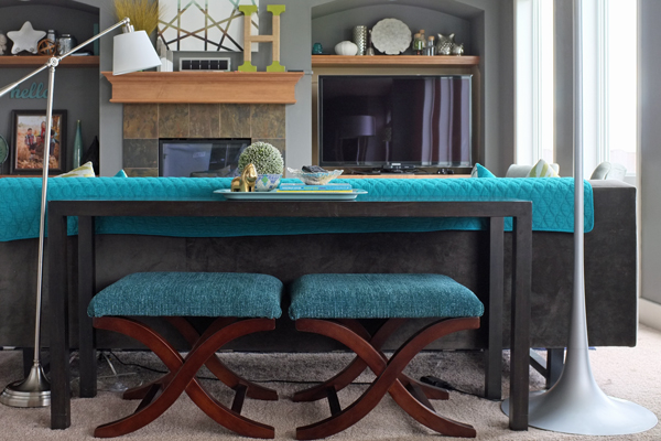 How to Style a Sofa Table how to style a sofa table casual 5