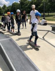 Beginner skateboard lesson