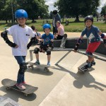Skateboard lesson Birthday party