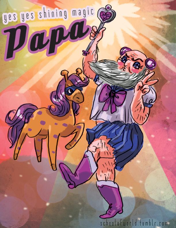 yes yes shining magic PAPA