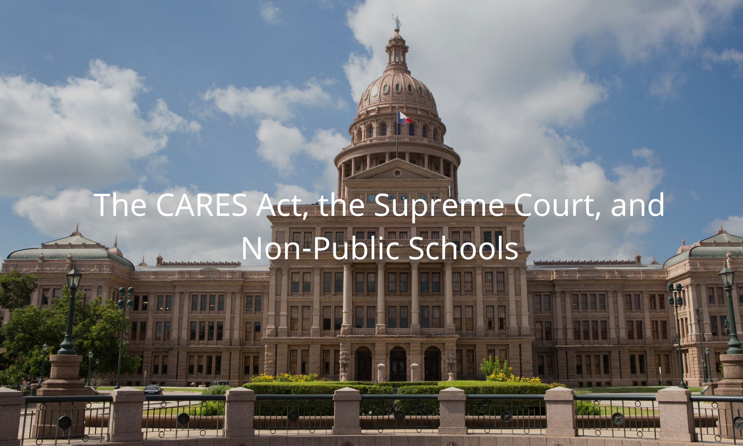 Using CARES Act Funding for Private School Reopening