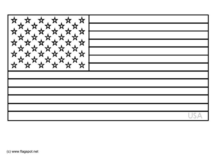 Kleurplaat USA Afb 6342
